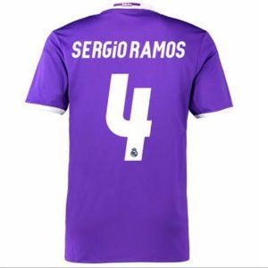 Real Madrid Away 16-17 Cheap SERGIO RAMOS #4 Soccer Jersey [G160]