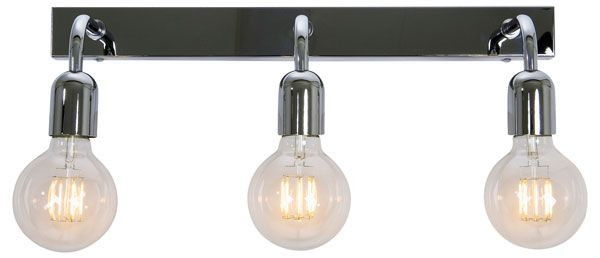 Belid Regal Vegglampe Trippel Matt Sort | Vegglampe