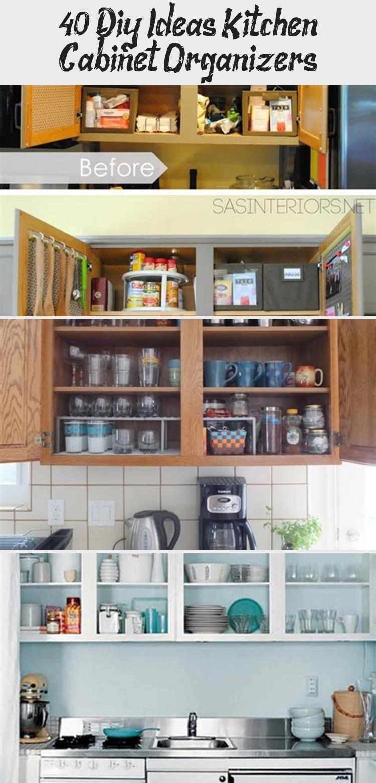 40+ Diy Ideas Kitchen Cabinet Organizers - KTCHN,  #Cabinet #DIY #diyhomeorganizers #Ideas #k... #cabinetorganizers