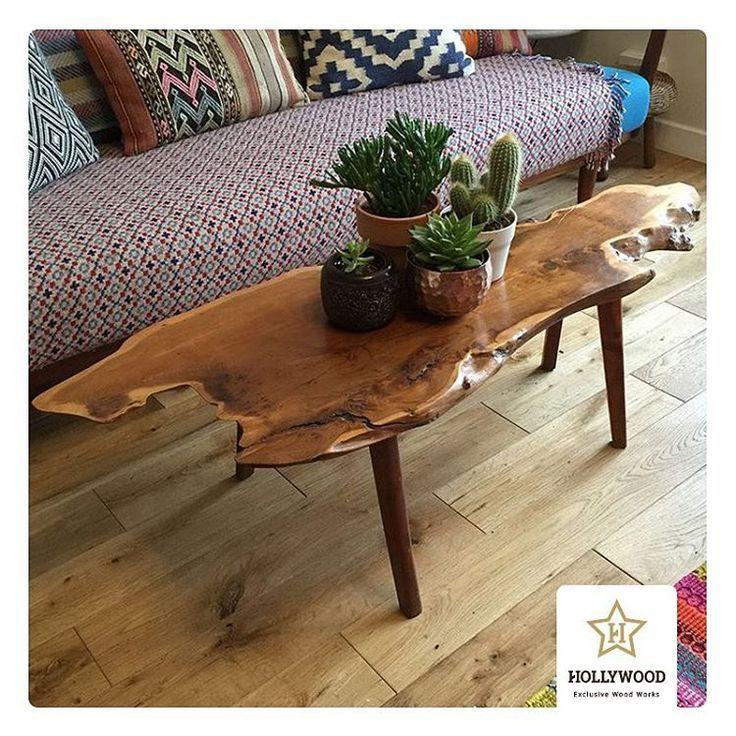 live edge coffee table cactus plants cactus coffee edge rh pinterest com