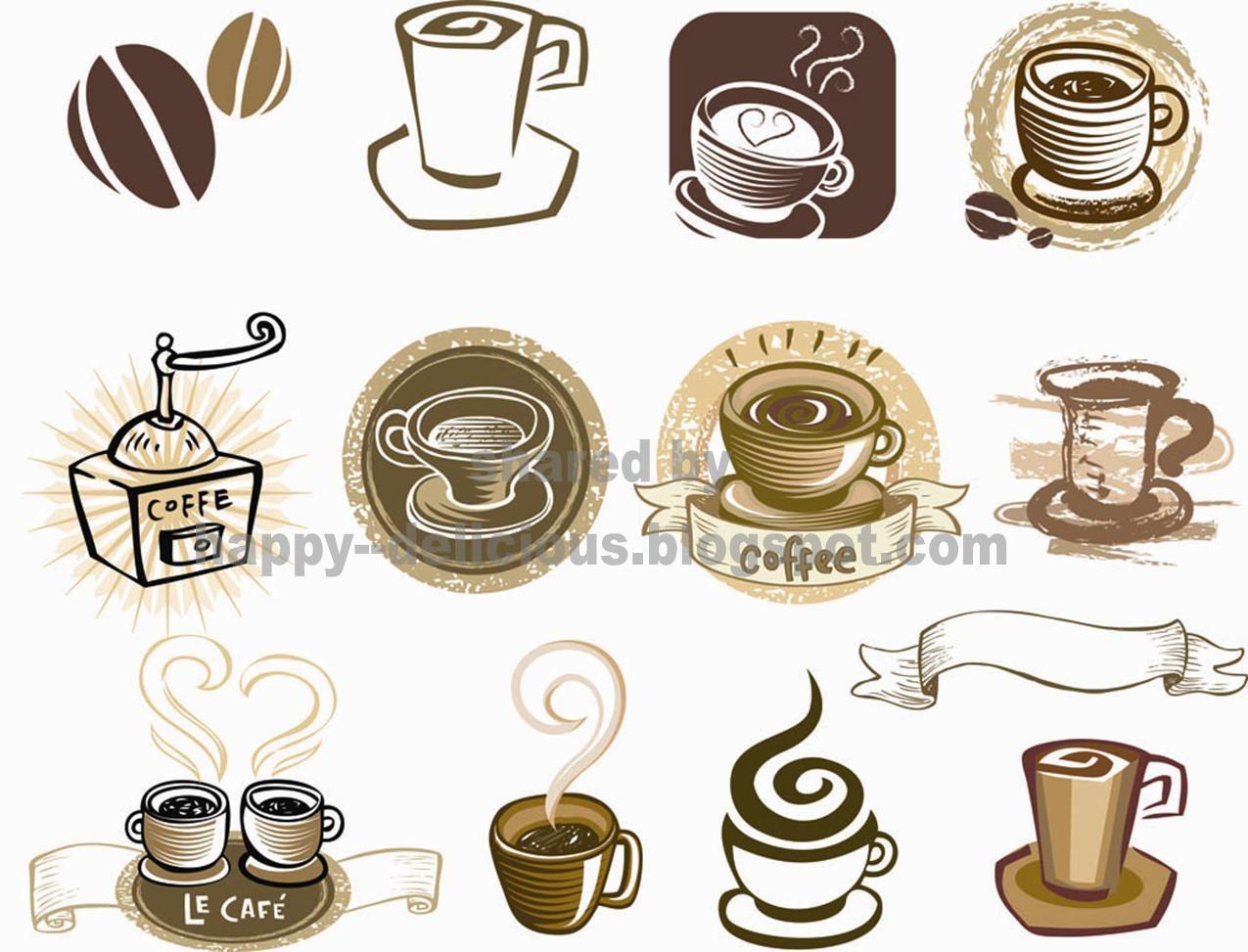 Clip Art Cafe Coffee vector, Vector free, Coffee logo