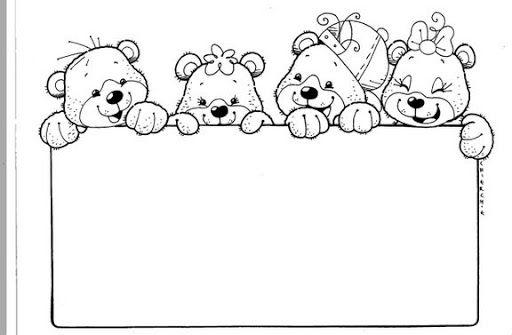 Bordes Y Marcos Decorativos Para Colorear Bear Crafts Coloring Pages Coloring For Kids