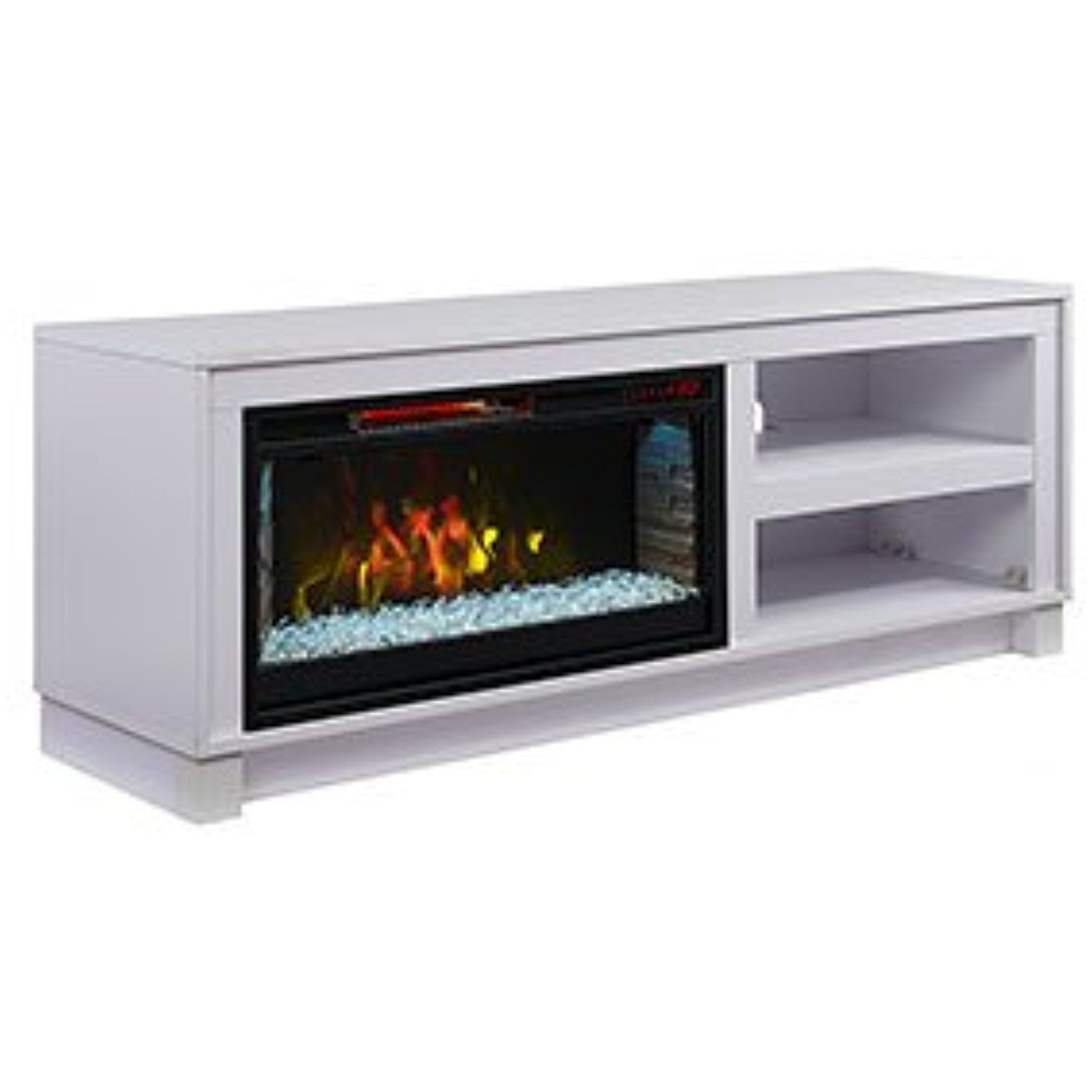comfort smart cameron electric fireplace tv stand white cs rh pinterest co uk