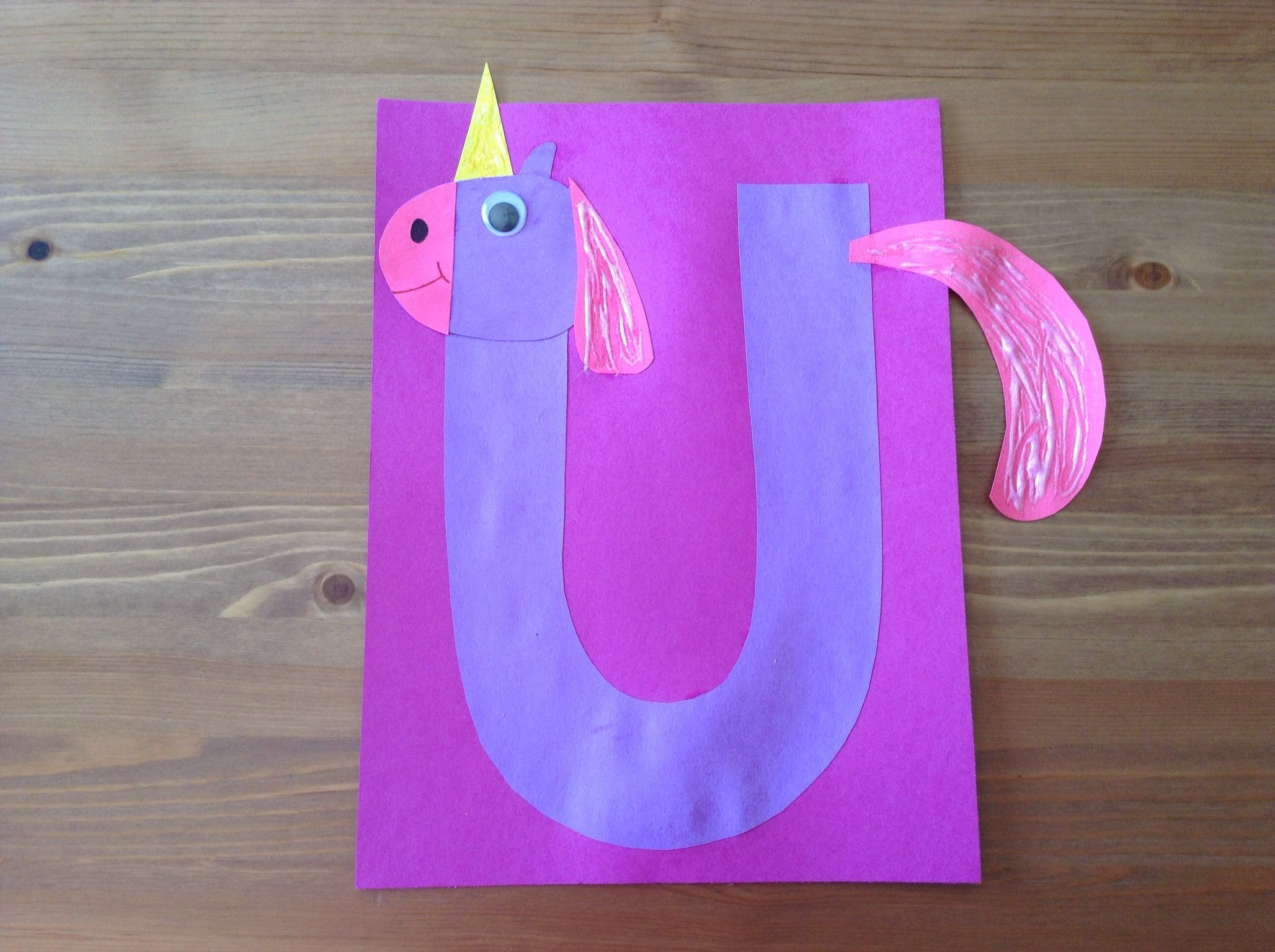 U Is For Unicorn Craft