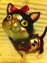 CAT - VINTAGE MERCURY GLASS ORNAMENTS