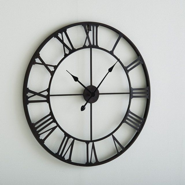 70cm Diameter Zivos Metal Clock Metal Clock Large Metal Clocks Clock