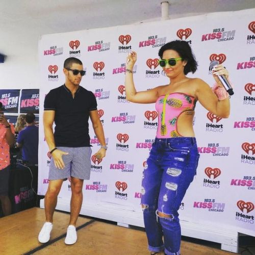 Pool Party From The Radio 103 5 Kiss Fm In Chicago 7 3 15 Demi