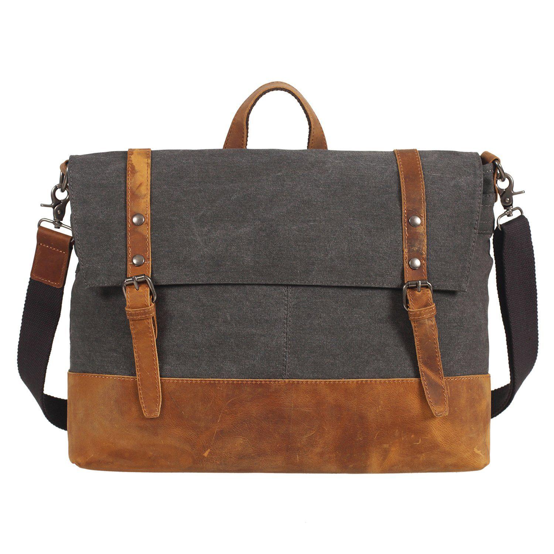 2139b60b6ad9f Etasche Vintage Herren Damen großer Messenger Bag   Umhängetasche    Schultertasche   Unitasche   Collegetasche Canvas