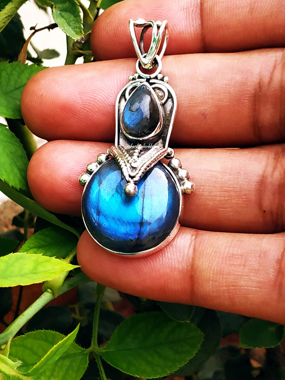 Labradorite Pendants Genuine Blue Flash Labradorite