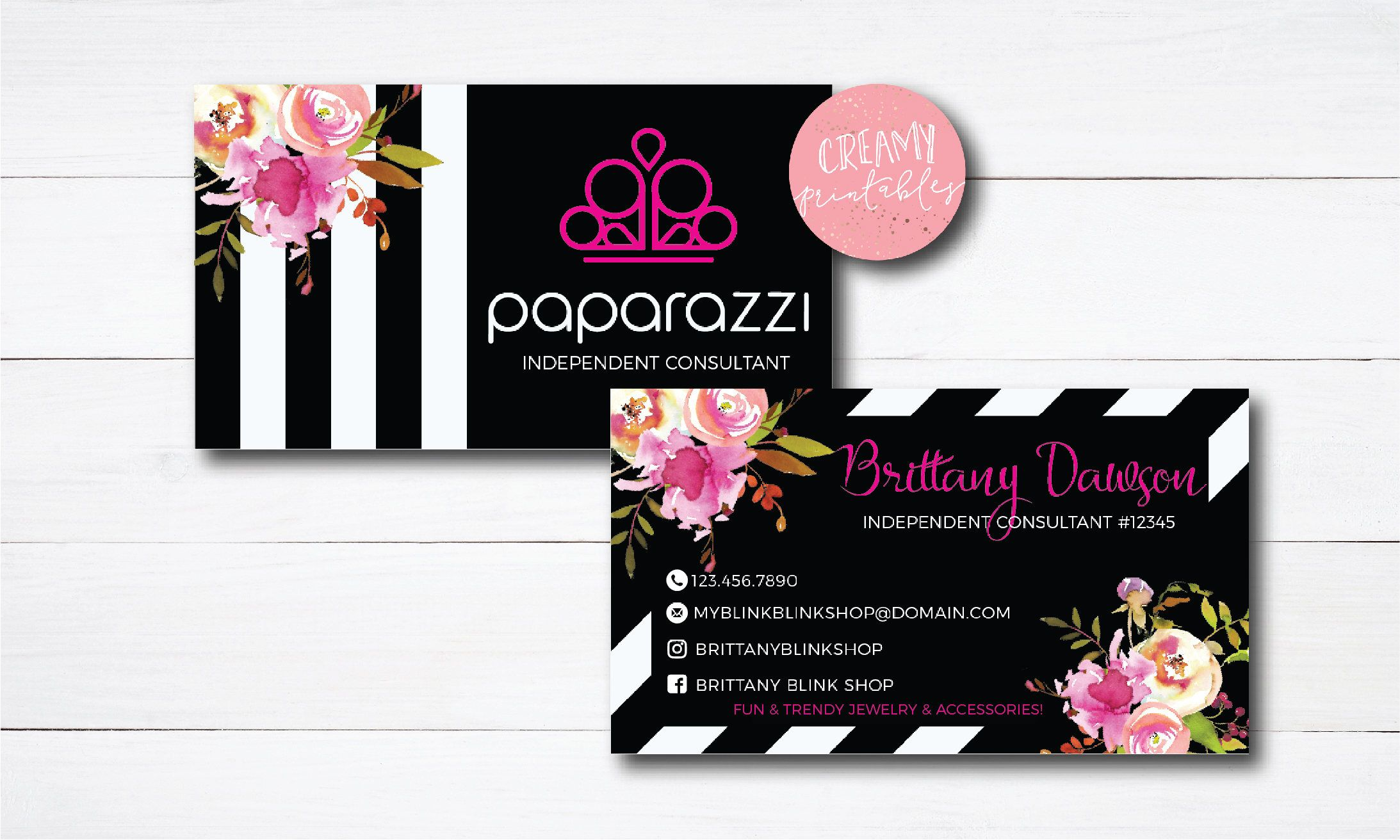 Excited To Share The Latest Addition To My Etsy Shop Paparazzi Business Cards Free Personalized Papar Business Cards Simple Simple Business Cards Paparazzi