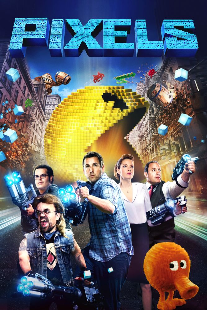 Pixels Movie Poster Adam Sandler Kevin James Michelle Monaghan