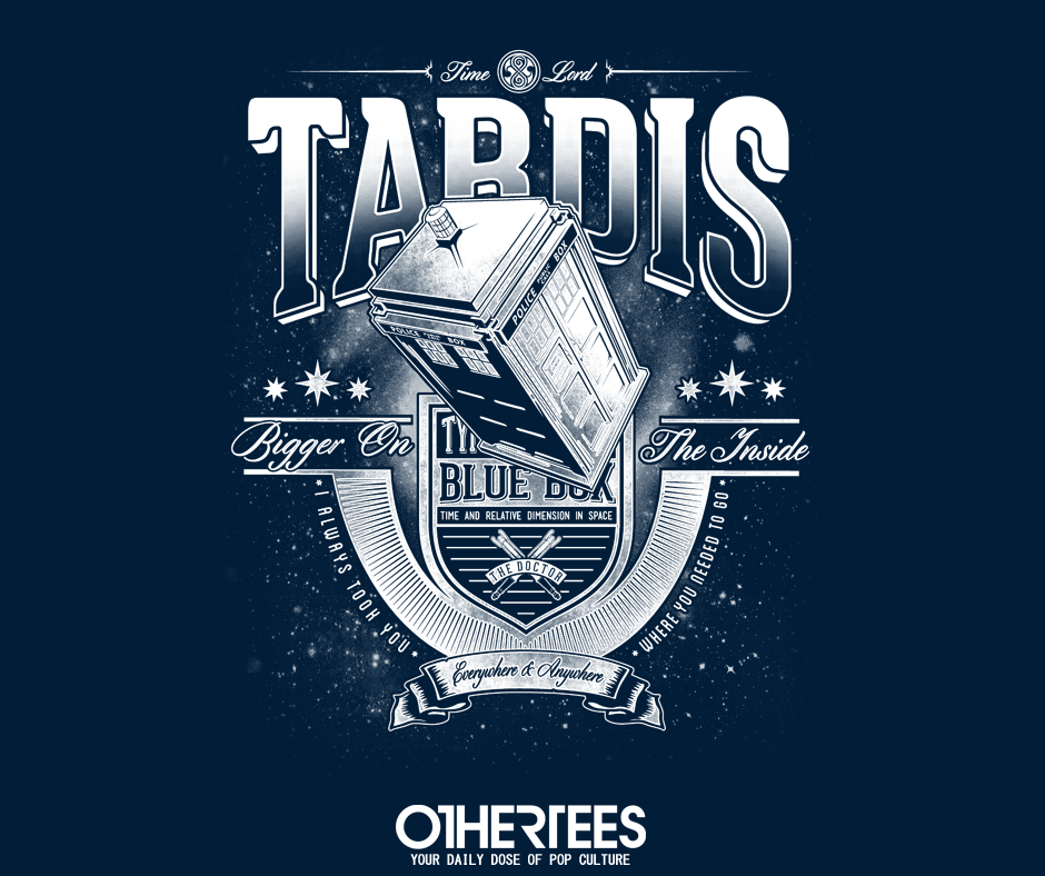 """Anywhere and Everywhere"" by CoDdesigns"" T-shirts, Tank Tops, V-necks, Sweatshirts and Hoodies are on sale until October 3rd at www.OtherTees.com #tardis #doctorwho #whovian #othertees #clothing #tshirt"