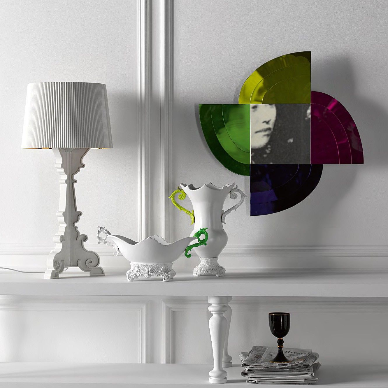 Designed By Ferruccio Laviani For Kartell The Bourgie Lamp White
