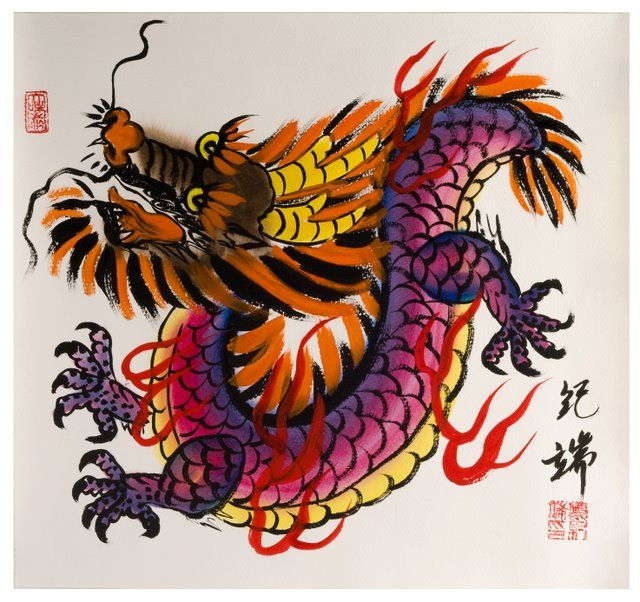 Chinese Zodiac Watercolor Painting Year Of The Dragon Chinese