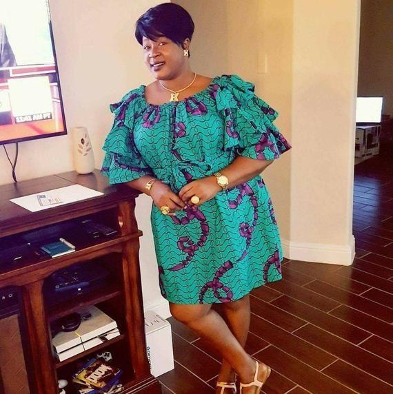 African women dress, African fabric dress, Ankara dress, African print dress #afrikanischemode