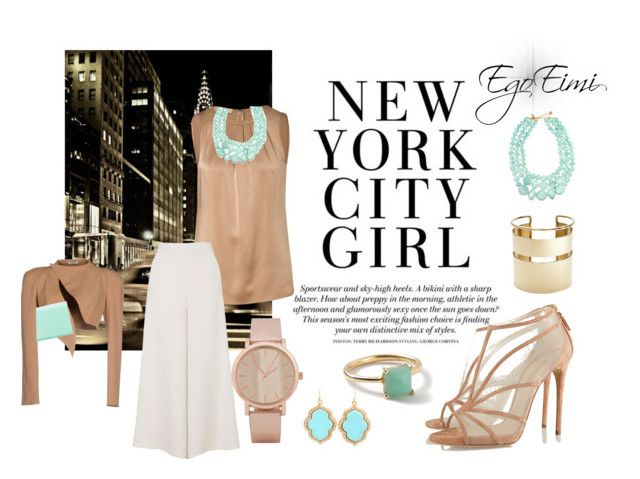 """New York City Girl"" by mesha-echevarria on Polyvore"