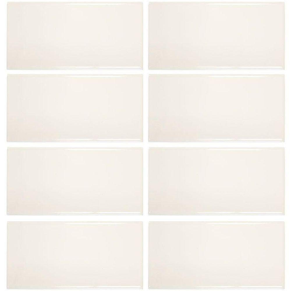jeffrey court royal cream 3 in x 6 in ceramic wall tile 8 pack rh pinterest com
