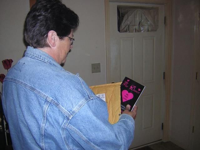 """Just got her copy of   """"The Dance My First Love"""""""