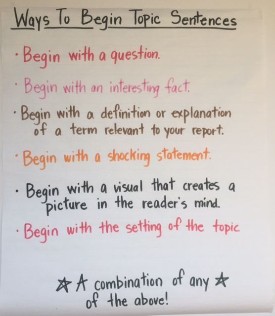 how to begin a sentence