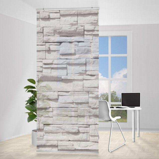 Raumteiler #Vorhang - Ashlar Masnory 250x120cm #wohnzimmer - wohnzimmer ideen vorhange