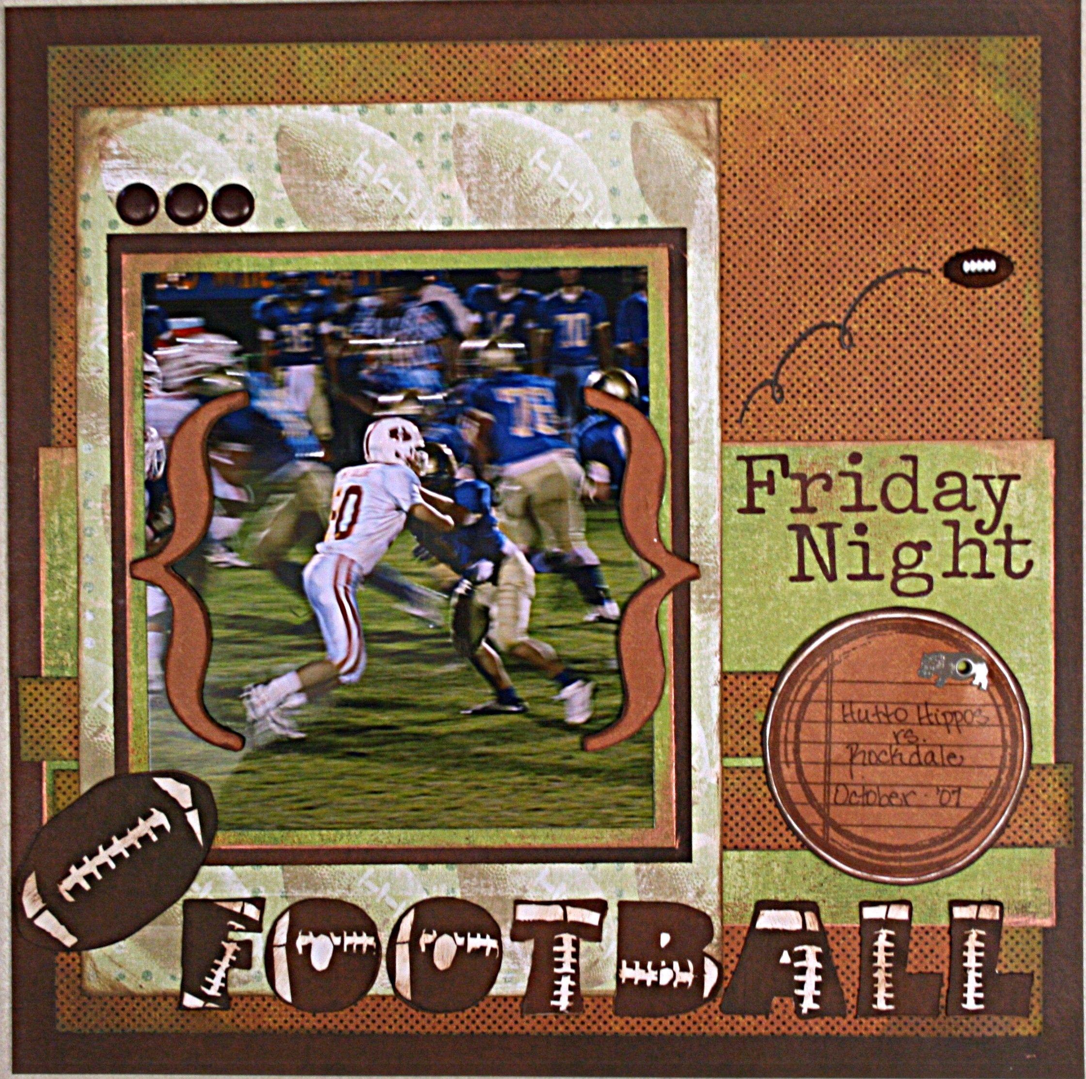 friday night football scrapbook com football scrapbook