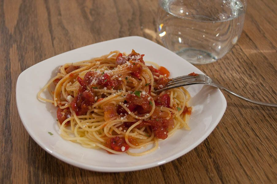 Tomato and Roasted Pepper Angel Hair Pasta