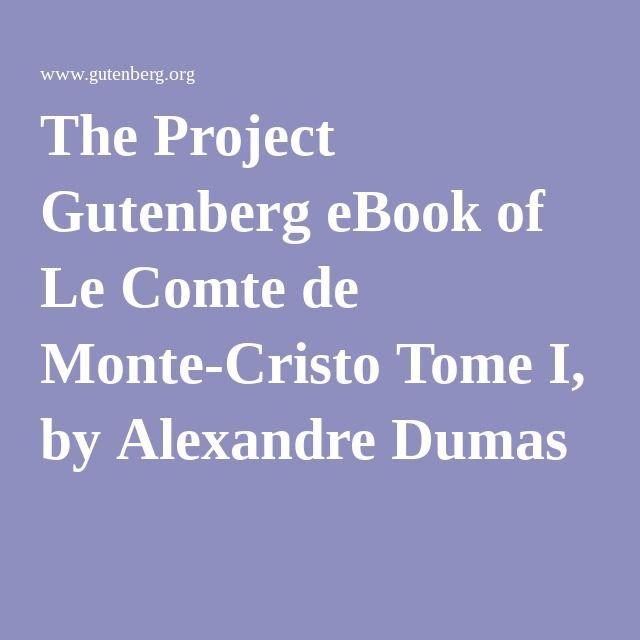 Le Comte De Monte Cristo Ebook