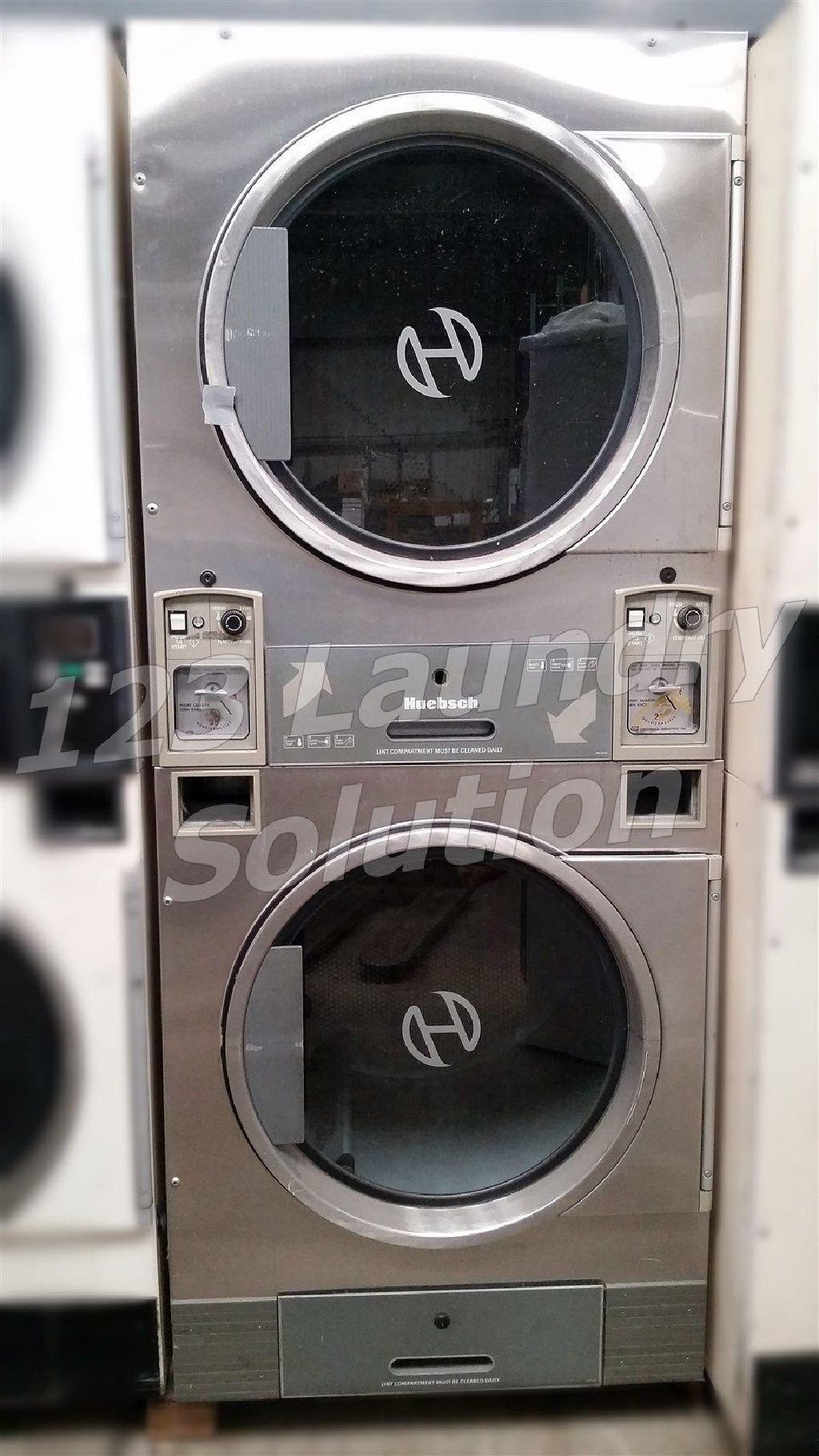 Good Condition Huebsch Stack Dryer Coin Op 30lb Jt0300drg 120v