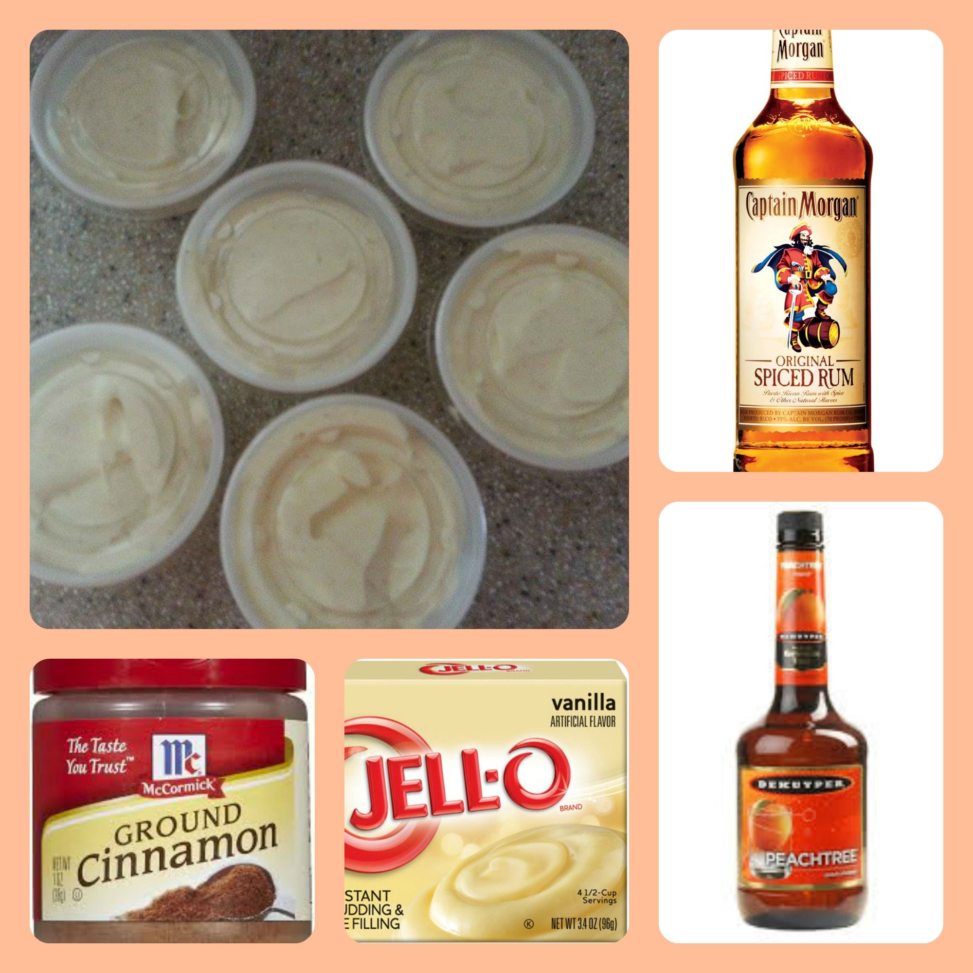 Peach Cobbler Pudding Shots 1 Small Pkg. Instant Vanilla