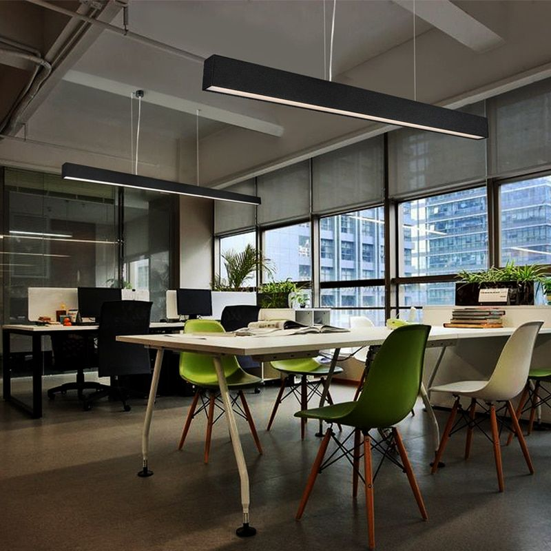 Puluoti Modern Simplicity Strip Lamp Led Office Pendant Light In Ceiling Lights From Lights Lighting On Aliexpress Com Alibaba Group Luminaire