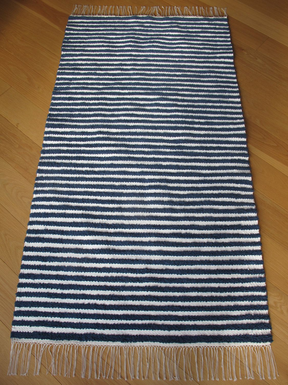 Striped Blue And White Rug Navy Blue Stripes Scandinavian Floor