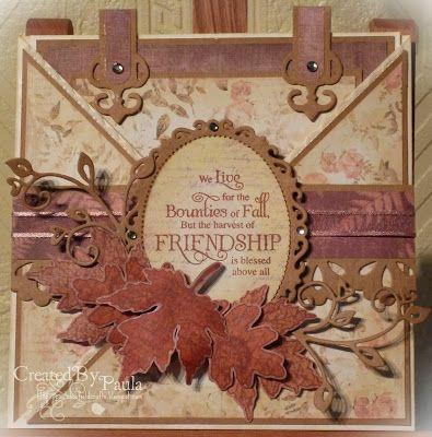 paulaholifieldcrafts: Autumn criss cross card