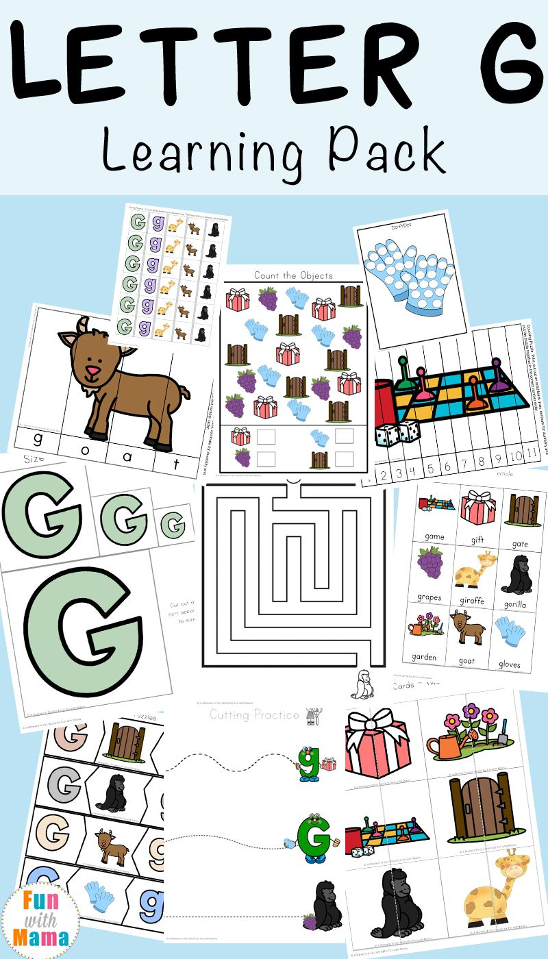Letter G Worksheets Pinterest Printable Letters Worksheets And