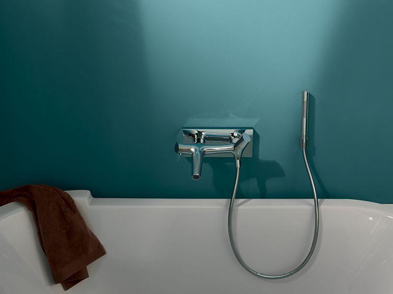 Axor Starck Organic: bath tub thermostat with hand shower ...