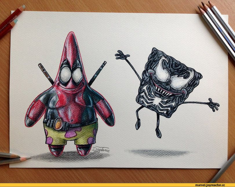 Гармония природой, смешные картинки из карандаша