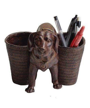 loving this dog double cup pen holder on zulily zulilyfinds fun rh pinterest at