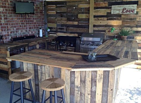 L Shaped Outdoor Kitchen Bar Grill Area Need An L Shape To Hide Ac