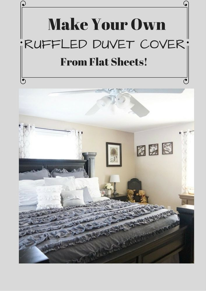 Make Your Own Ruffled Duvet Cover From