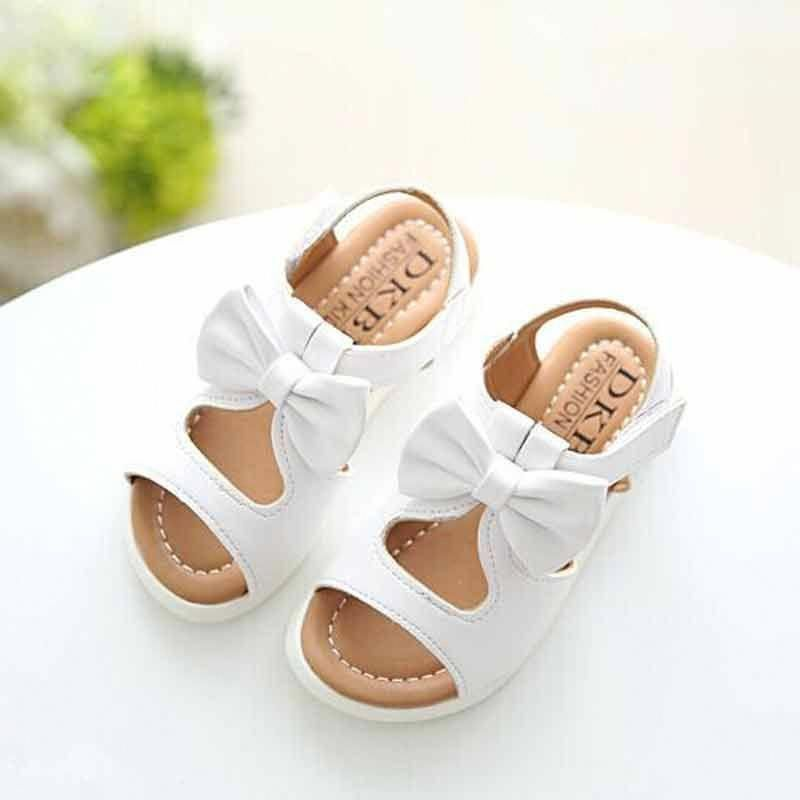 Voberry Baby Girls Mary Jane Shoes Toddler Leather Princess Bowknot Flat Shoes Green
