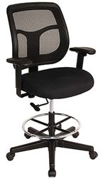 Apollo Series Mesh Back Task Stool Dft9800 By Eurotech Seating Drafting Chair Office Chair Adjustable Chairs