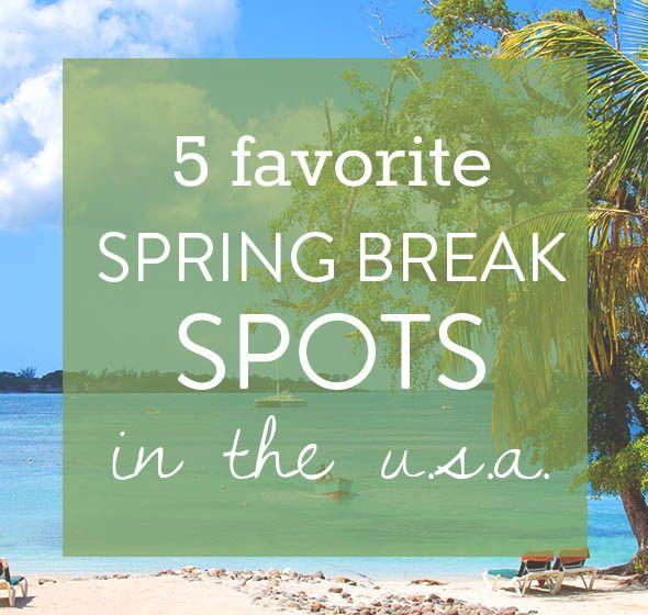 5 favorite spring break spots in the us pinterest destinations rh pinterest com