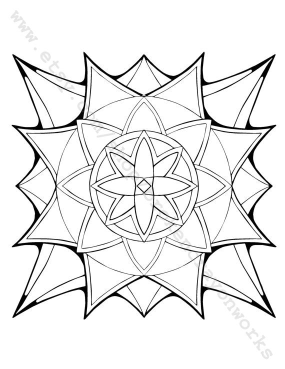 coloring page starburst by brokencrayonworks on etsy
