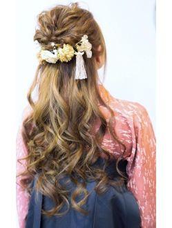 袴 卒業式 ハーフアップ 卒業式 髪型 ハーフアップ 髪型 ハーフ