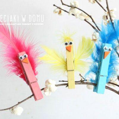 Photo of Gefiederte Wäscheklammervögel – lustiges Frühlingshandwerk für Kinder | Mindy