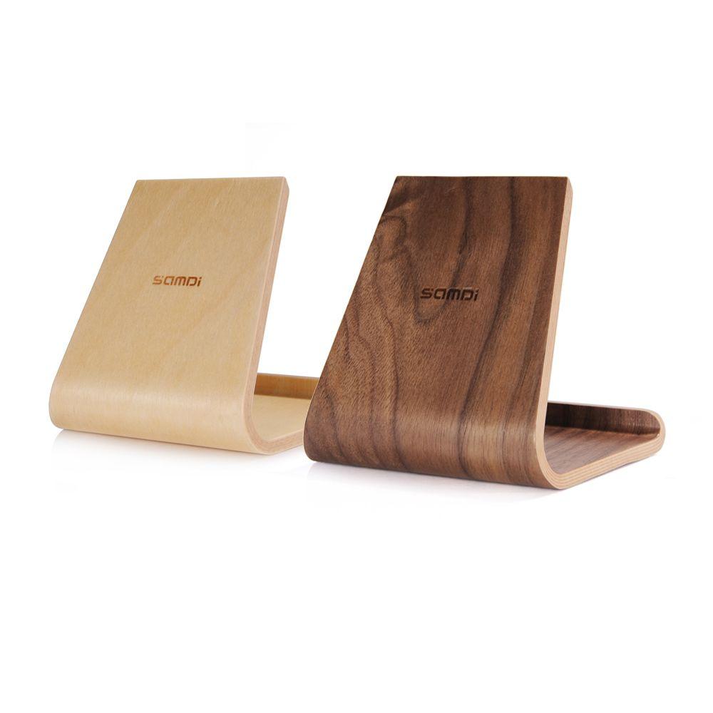 Holz Birke samdi tragbare birke holz telefon tablet ständer halter dock station
