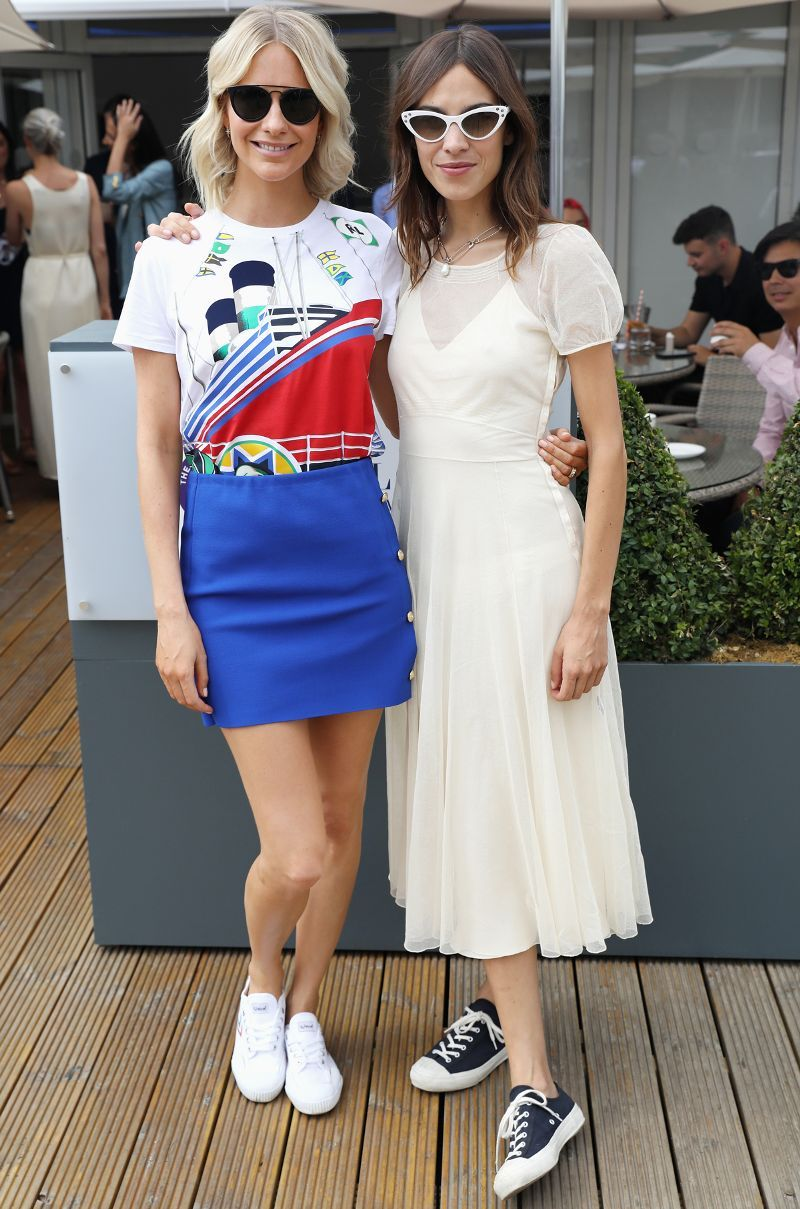 3b270ab88e Alexa Chung Wore the Ultimate Summer Sneaker Outfit at Wimbledon ...