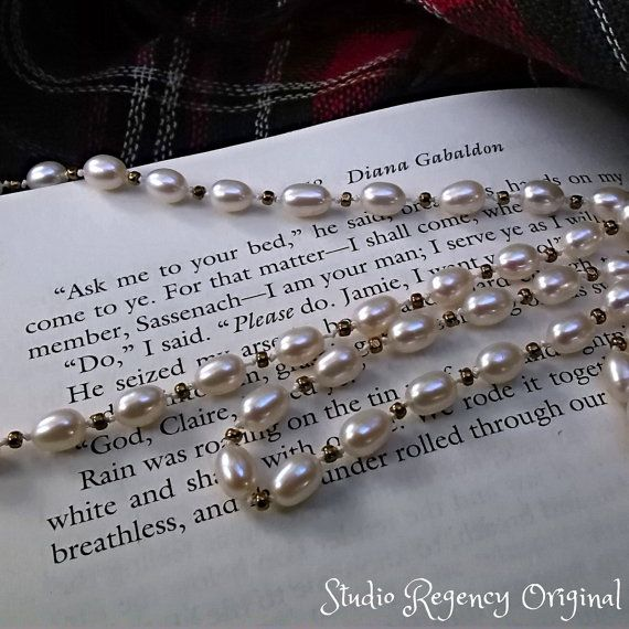 8b424d4dac896 I Love this! Claire's Pearl Necklace Outlander Knotted Pearl by ...