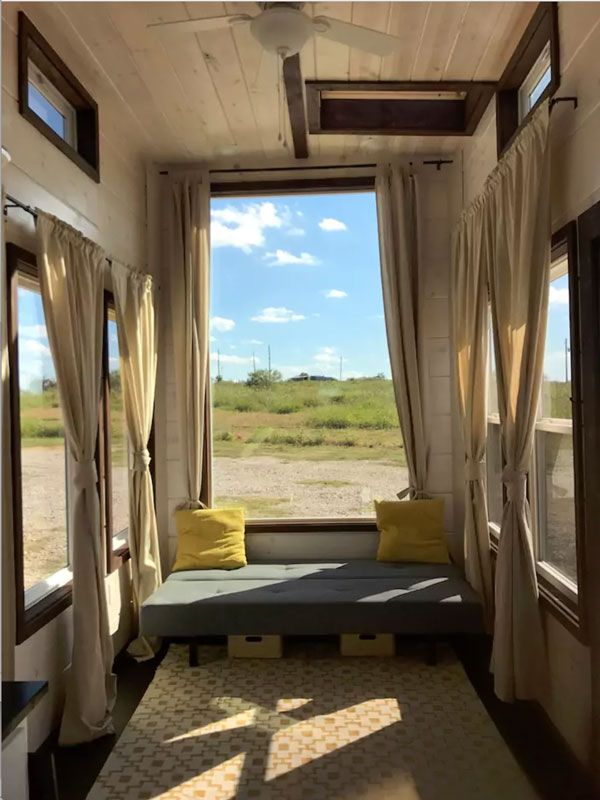 the texas style a 8 x 24 tiny house with a modern rustic design rh pinterest com