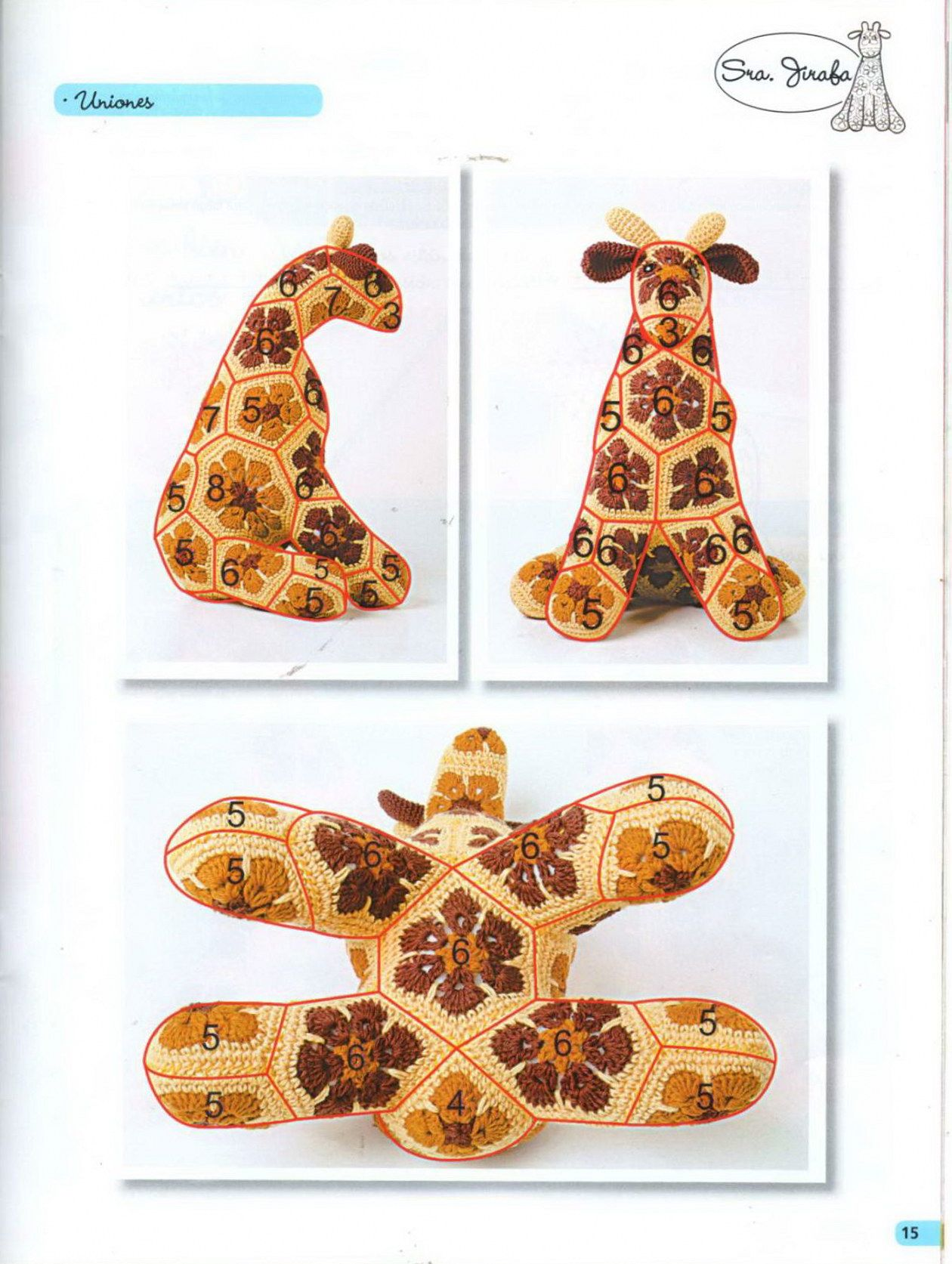 african flower giraffe pattern not in english 45