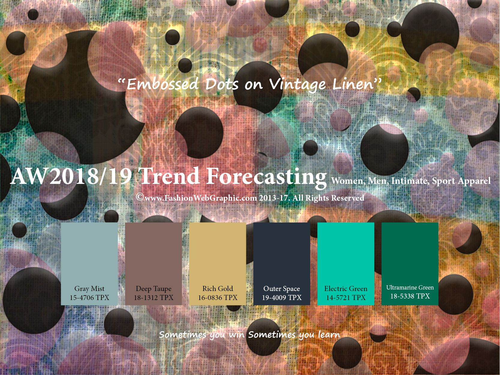Autumn Winter 2018/2019 trend forecasting is A TREND/COLOR ...